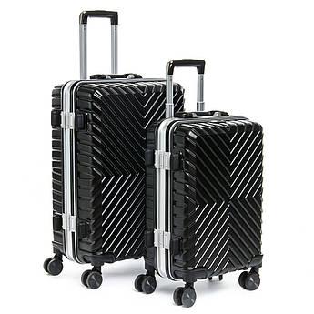 Дорожная Чемодан 2/1 ABS-пластик 07 black черный замок