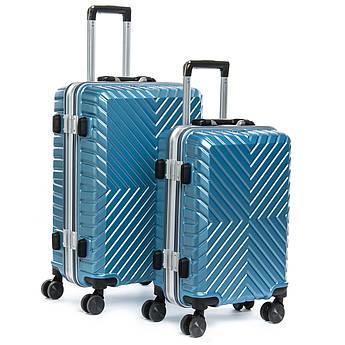 Дорожная Чемодан 2/1 ABS-пластик 07 blue синий замок