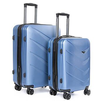 Дорожная Чемодан 2/1 ABS-пластик 8340 blue синий змейка