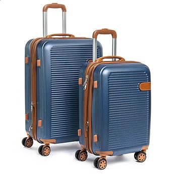 Дорожная Чемодан 2/1 ABS-пластик 8387 blue синий змейка