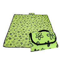 Коврик сумка для пикника и кемпинга складной 180x150 см Springos зеленый цветок 193891