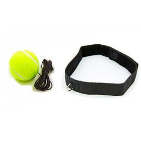 Тренажер fight ball (файт бол), тенісний м'ячик для боксу на резинці OSPORT Light (FI-0132)