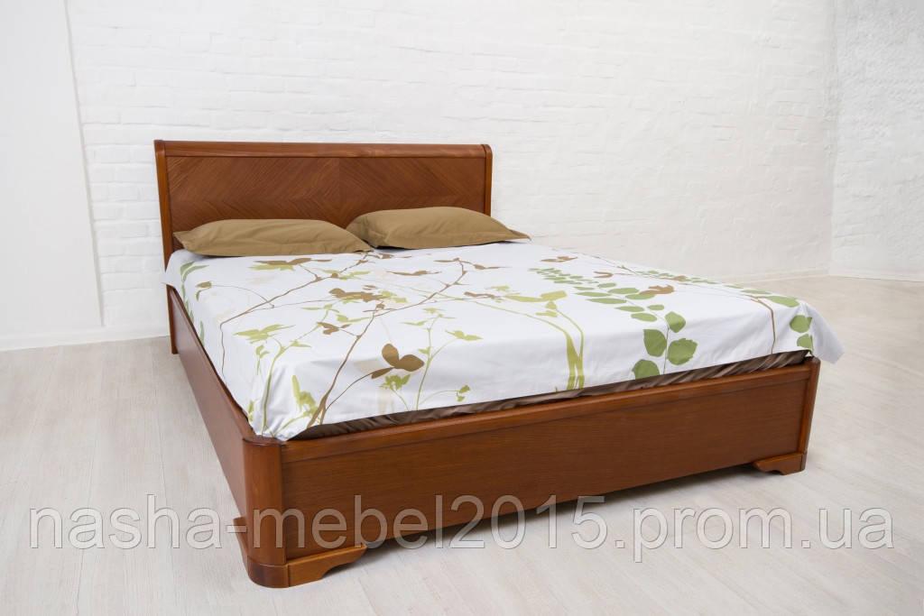 Деревянная Кровать Полуторная Ассоль бук 1,6м с подъемным механизмом