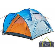 Палатка туристическая, трехместная, усиленная, для туризма