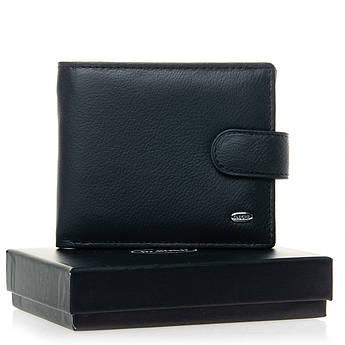 Мужские кошельки из натуральной кожи Classic кожа DR. BOND M3 black черный