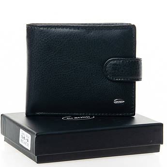 Мужские кошельки из натуральной кожи Classic кожа DR. BOND M4 black черный