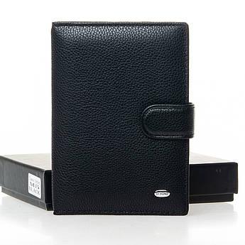 Мужские кошельки из натуральной кожи Classic кожа DR. BOND M5 black черный