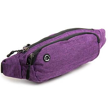Сумка Мужская На пояс нейлон Lanpad 7661 purple фиолетовая
