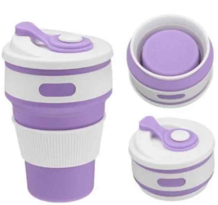 Силиконовая складная чашка стакан silicon magic cup, Б455