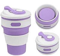 Силиконовая складная чашка стакан silicon magic cup, Б455, фото 1