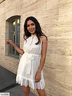 Шифонова коротке плаття-сарафан красиве нарядне розкльошені трапеція з поясом р-ри 42-46 арт. 296
