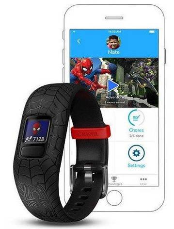 Фітнес-браслет Garmin Vivofit JR 2 Spider-man, фото 2