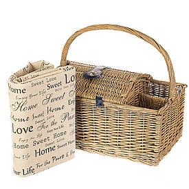 Набор для пикника в плетенной корзине на 2 персоны 028PPN