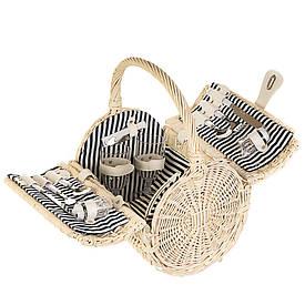 Корзина плетеная (набор для пикника) на 2 персоны 021PPN