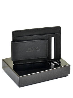 Мужские кошельки из натуральной кожи Classic кожа DR. BOND MZS-2 black черный