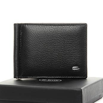 Мужские кошельки из натуральной кожи Classic кожа DR. BOND MZS-3 black черный