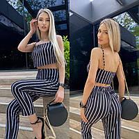 Жіночий літній костюм двійка топ+штани новинка 2021