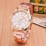 Модные женские часы Michael Kors качественные реплика золотистые серебристые, фото 3