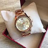 Модные женские часы Michael Kors качественные реплика золотистые серебристые, фото 4
