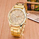Модные женские часы Michael Kors качественные реплика золотистые серебристые, фото 8