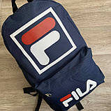 Мужской спортивный рюкзак Fila Фила городской для тренировок для мужчин синий, фото 3