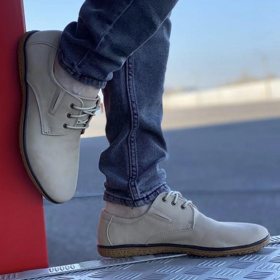 Туфлі чоловічі стильні бежевого кольору (156160)