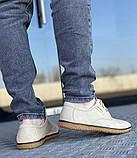 Туфлі чоловічі стильні бежевого кольору (156160), фото 3