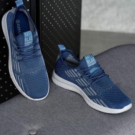 Мужские кроссовки летние синие (Нс-941сн)
