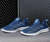 Мужские кроссовки летние синие (Нс-941сн), фото 2