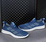 Мужские кроссовки летние синие (Нс-941сн), фото 3