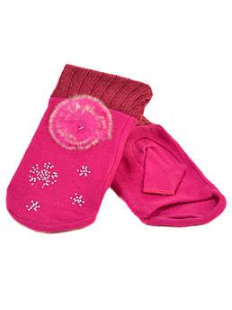 Перчатки женские вязка FO-3 pink розовая