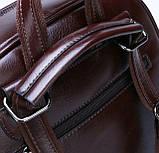 Рюкзак міський жіночий, Модні жіночі рюкзаки, Рюкзак для дівчини чорний коричневий, фото 2