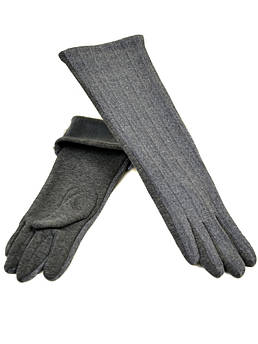 Перчатки женские стрейч F19/17 40см grey серый плюш