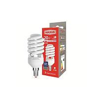 Экономная лампа Maxus (1-ESL-230-12) XPiral 20W 4100K E14