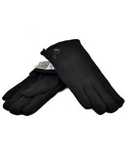Перчатка Мужская стрейч M1/17 мод5 black черный махра