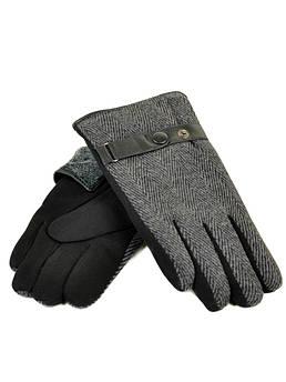 Перчатка Мужская стрейч M3/17 мод2 black черный махра