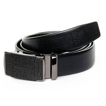 Ремень Мужской кожа 25-DM-6441 black черный