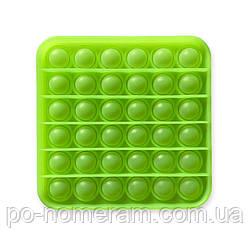 Pop it антистресс, неоновый зелёный квадрат