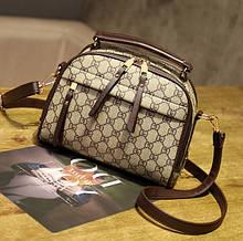 Маленькая женская сумочка клатч через плечо в стиле Гучи, мини сумка для девушек эко кожа стильная и модная