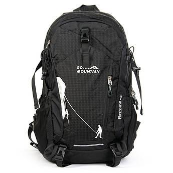 Рюкзак Туристический нейлон Royal Mountain 1646-20 black черный-grey серый