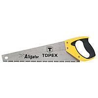 """Ножовка по дереву TOPEX, 400 мм, """"Aligator"""", 7TPI 10A441"""