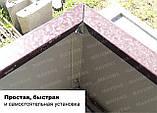 Грядка оцинкованная Mavens, коричневая, 120 х 120 х 19 см, (бордюр, ограждение), фото 2