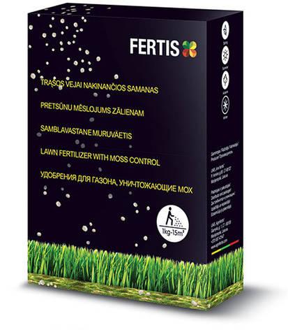 Добриво для газону та знищення моху NPK 15-0-0+Fe (1 кг), FERTIS, фото 2