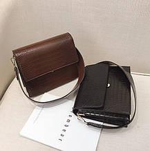 Женская мини сумка через плечо под рептилию, сумочка змеиная эко кожа модная