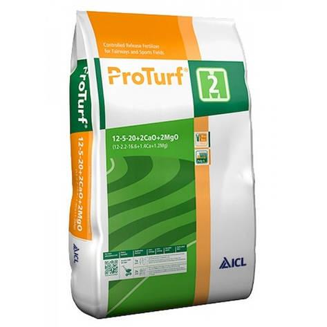 Комплексне мінеральне добриво ProTurf NPK 12+5+20+2CaO + 2MgO, (2 місяці), 25 кг, ICL, фото 2