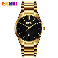 Skmei 9140 золото з чорним циферблатом чоловічі годинники, фото 1