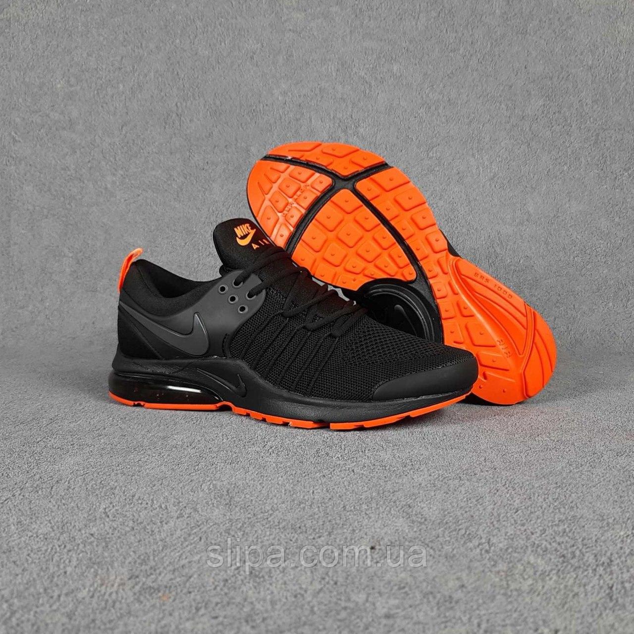 Чёрные мужские кроссовки в сетку Nike Air Presto на чёрной подошве   Вьетнам   сетка + пена