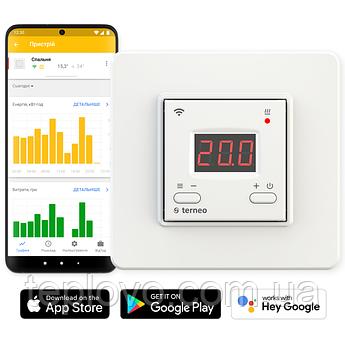Терморегулятор програмований terneo ax Wi-Fi (білий), програматор для теплої підлоги