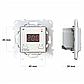 Терморегулятор програмований terneo ax Wi-Fi (білий), програматор для теплої підлоги, фото 5