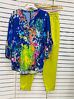 Рубашка женская синяя летняя Grandi 21-4216